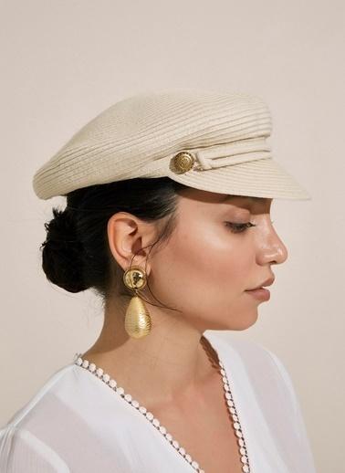Morhipo Beach Denizci Hasır Şapka Bej